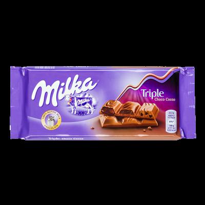 шоколад Милка Три шоколада 90 г 1уп.х 20 шт.