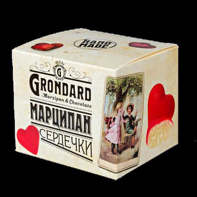 конфеты GRONDARD МАРЦИПАН сердечки 90 г 1 уп. х  16 шт.