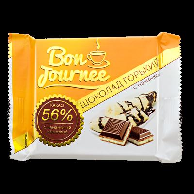 шоколад Спартак Bon Journee Горький 56% с банановой начинкой 80 г 1 уп.х 29 шт.