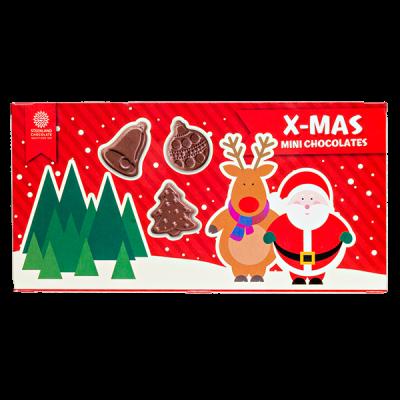 Фигурки шоколадные X-MAS MINI CHOCOLATES 90 г 1 уп.х 24 шт.