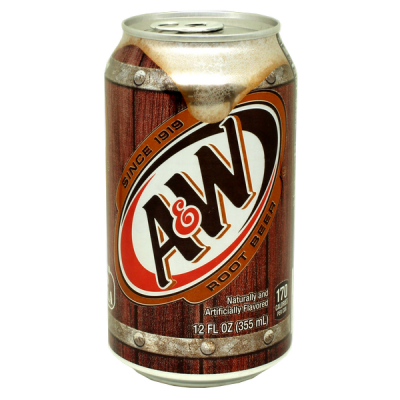 напиток A&W ROOT BEER NO CAFFEIN 355 МЛ Ж/Б