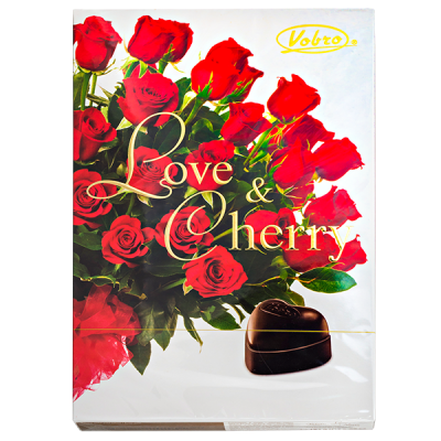 конфеты VOBRO LOVE&CHERRY 187 г 1 уп.х 12 шт.