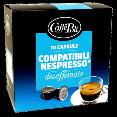 кофе капсулы CAFFE POLI DECAFFEINATO 1 уп х  10 капсул