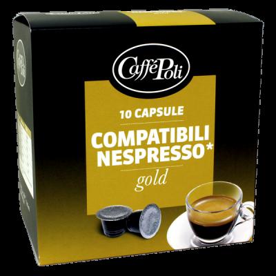 кофе капсулы CAFFE POLI GOLD 1 уп х  10 капсул