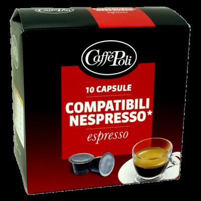 кофе капсулы CAFFE POLI ESPRESSO 1 уп х  10 капсул