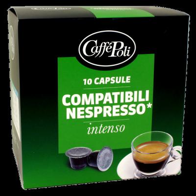 кофе капсулы CAFFE POLI INTENSO 1 уп х  10 капсул