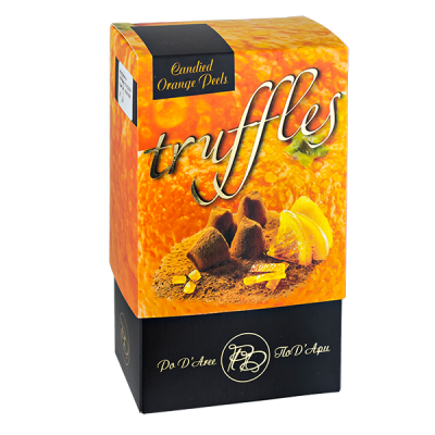 конфеты MATHEZ PoD'Aree Трюфель с апельсиновой цедрой 160 г 1 уп.х 12 шт. или 1 уп.х 15 шт.