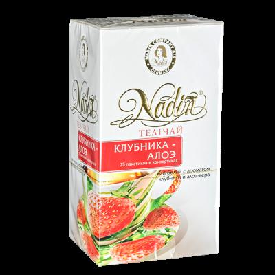 чай NADIN 'Клубника - Алоэ' 25 пакетиков 1 уп.х 12 шт.