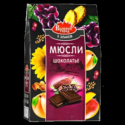 Мюсли Шоколатье 5-злаков со льном 300 г.