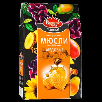 Мюсли Медовые 5-злаков со льном 300 г.