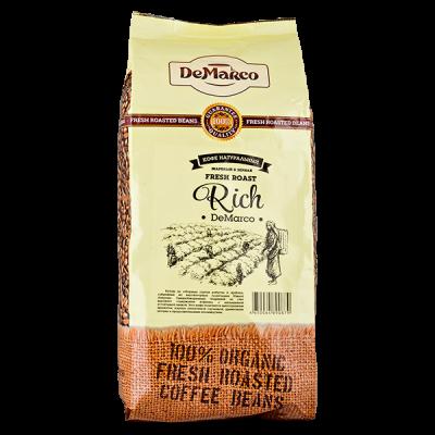 кофе DeMARCO RICH 1кг зерно 1 уп.х 10 шт.