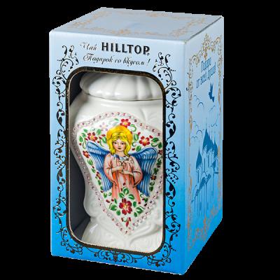 чай HILLTOP ПОДАРОК ЦЕЙЛОНА керамическая чайница Ангел 100 г 1 уп.х 6 шт.