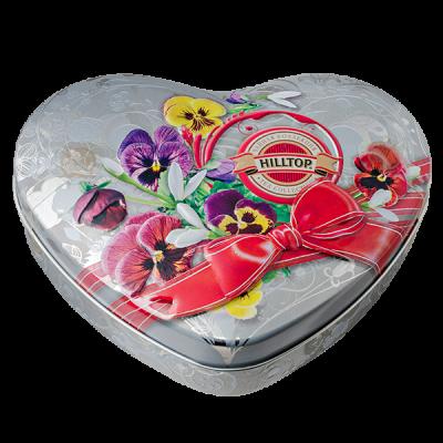 чай HILLTOP в подарочном футляре в форме сердца 'НЕЖНЫЕ ФИАЛКИ' ж/б 100 г