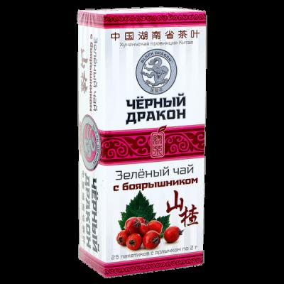 чай Чёрный Дракон 'Зелёный с боярышником' 25 пакетиков 1 уп.х 18 шт.