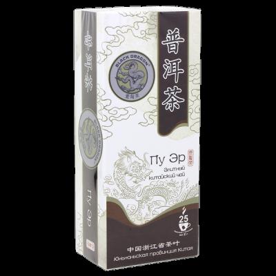 чай Чёрный Дракон 'Пу Эр элитный китайский' 25 пакетиков 1 уп.х 18 шт.