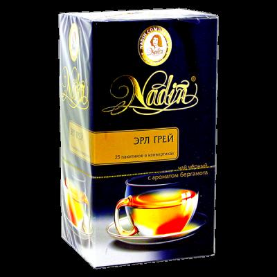 чай NADIN 'Эрл Грей' 25 пакетиков 1 уп.х 12 шт.