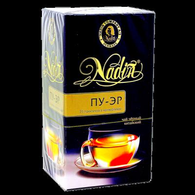 чай NADIN 'Пу-Эр' 25 пакетиков 1 уп.х 12 шт.