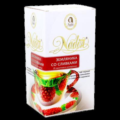 чай NADIN 'Земляника со сливками' 25 пакетиков 1 уп.х 12 шт.