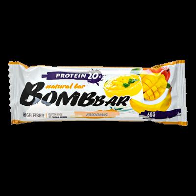 Батончик Bombbar протеиновый PUDDING Mango-Banana 60 г 1 уп.х 20 шт.