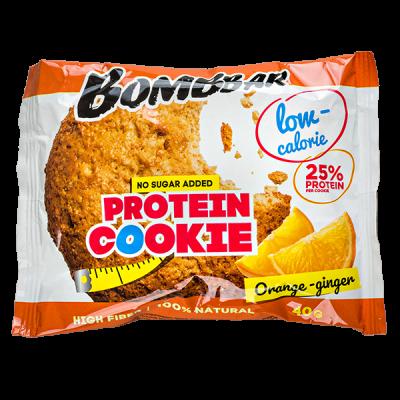 Печенье Bombbar протеиновое Orange-ginger 40 г 1 уп.х 12 шт.