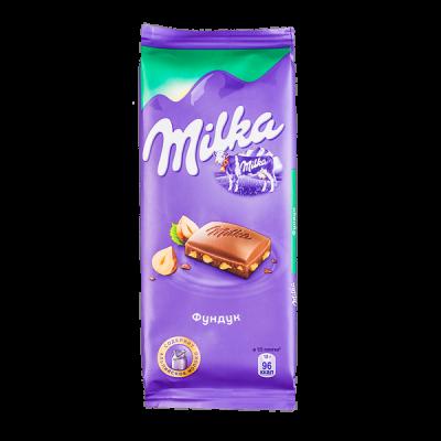 шоколад Милка Фундук 90 г 1уп.х 22шт.
