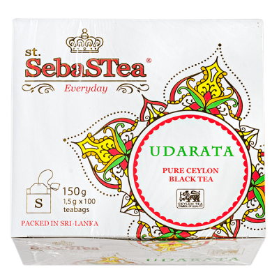 чай St.SebaSTea UDARATA 100 пакетиков 1 уп.х 12 шт.