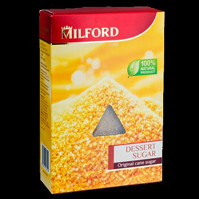 сахар коричневый тростниковый MILFORD 500 г 1уп.х 9 шт.