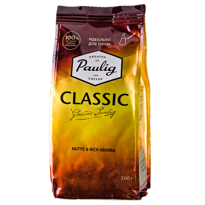 кофе PAULIG CLASSIC идеально для турки 200 г молотый 1 уп.х 12 шт.