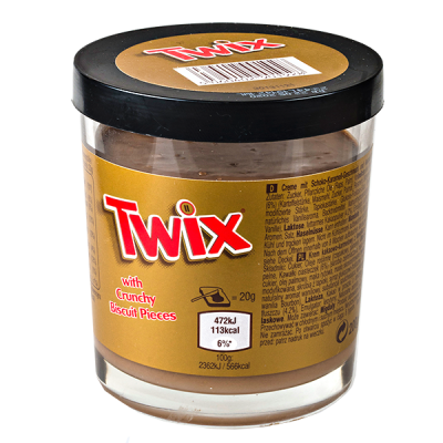 паста TWIX с хрустящими кусочками печенья 200 г 1 уп.х 6 шт.
