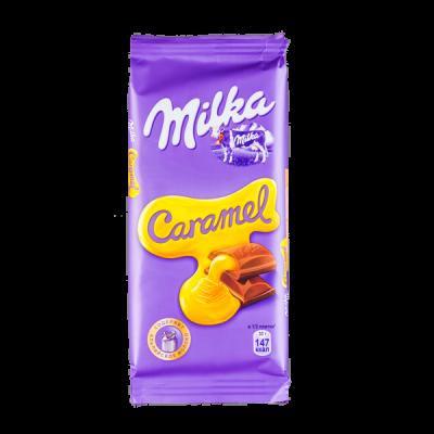 шоколад Милка Карамель 90 г 1уп.х 20 шт.