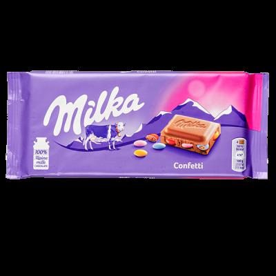 шоколад Милка Confetti 100 г 1уп.х 22 шт.