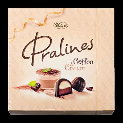 конфеты VOBRO PRALINES COFFEE&CREAM 127 г 1 уп.х 12 шт.