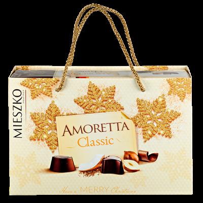 конфеты MIESZKO AMORETTA CLASSIC в подарочной сумочке 276 г 1 уп.х 7 шт.