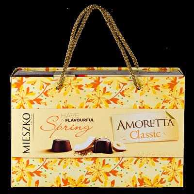 конфеты MIESZKO AMORETTA CLASSIC в подарочной сумочке 280 г 1 уп.х 7 шт.