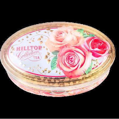 чай HILLTOP в овальной шкатулке 'НЕЖНЫЕ РОЗЫ' ж/б 100 г 1 уп.х 18 шт.