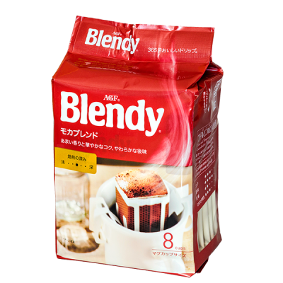 кофе AGF Blendy майлд мока молотый фильтр-пакет 1 уп * 8 шт.