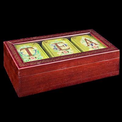чай HILLTOP в деревянной шкатулке набор 'T E A' 150 г 1 уп.х 6 шт.