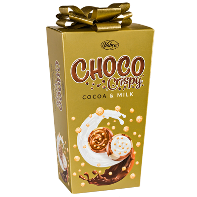 конфеты VOBRO CHOCO Crispy 180 г 1 уп.х 10 шт.