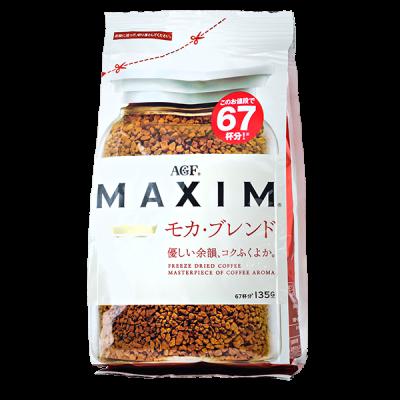 кофе AGF MAXIM МОКА растворимый 135 г м/у