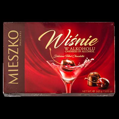 конфеты MIESZKO CHERRIES IN ALCOHOL 142 г 1 уп.х 13 шт.