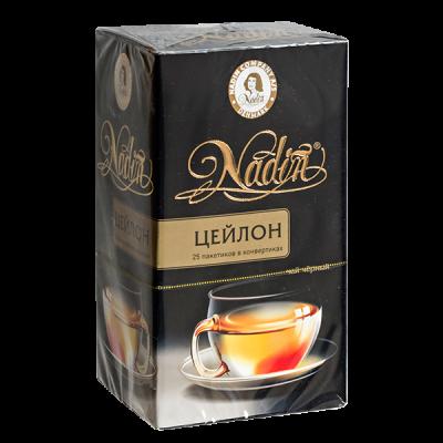 чай NADIN 'Цейлон' 25 пакетиков 1 уп.х 12 шт.