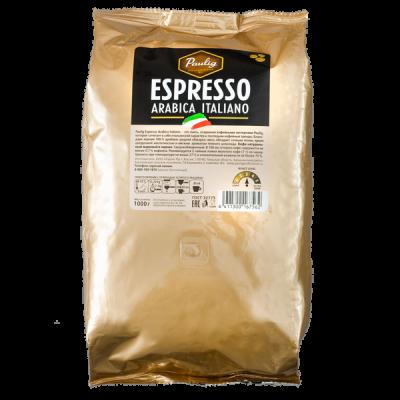 кофе PAULIG ESPRESSO ARABICA ITALIANO 1 кг зерно 1 уп.х 4 шт.