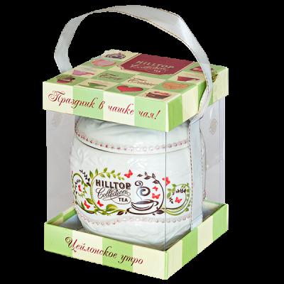 чай HILLTOP в керамической шкатулке 'Цейлонское утро' 80 гр. 1уп. х 8 шт.