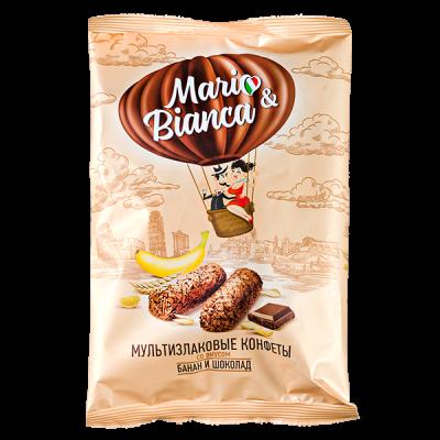 конфеты MARIO&BIANCA Мультизлаковые со вкусом Банан и Шоколад 138 г 1 уп. х 8 шт.