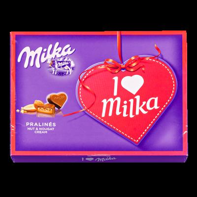конфеты Милка I LOVE нуга/лесной орех 110 г 1 уп.х 16 шт.
