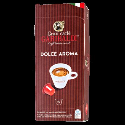 кофе капсулы GARIBALDI DOLCE AROMA 1уп х  10 капсул