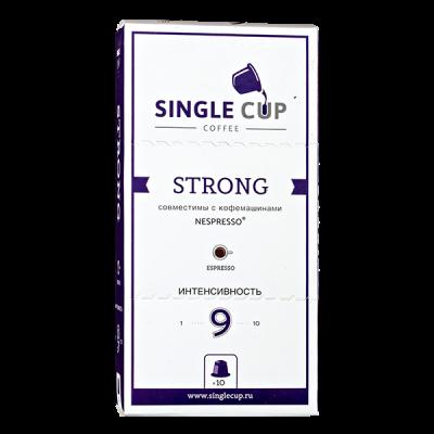 кофе капсулы SINGLE CUP STRONG 1упх  10 капсул