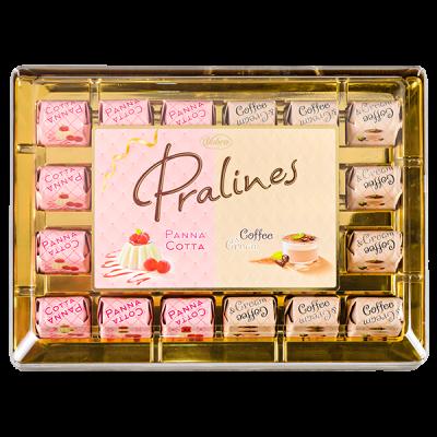 конфеты VOBRO PRALINES PANNA COTTA, COFFEE&CREAM пластик кор. 290 г 1 уп.х 6 шт.