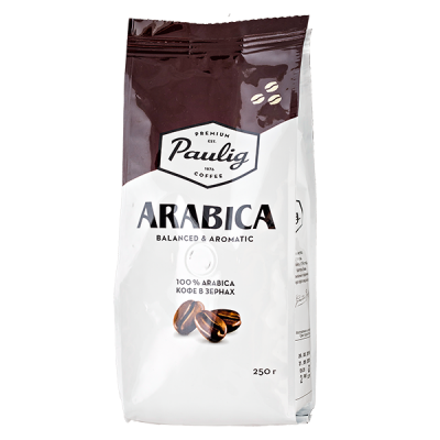 кофе PAULIG ARABICA 100 % 250 г зерно 1 уп.х 12 шт.