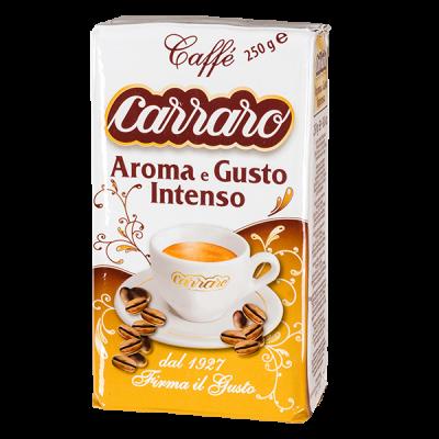 кофе CARRARO AROMA E GUSTO INTENSO 250 г молотый 1 уп.х 20 шт.